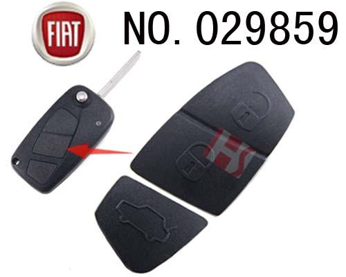 菲亚特汽车3键遥控折叠匙按键胶皮(黑色)