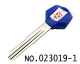 铃木摩托车钥匙外壳(蓝色,右槽)