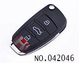 A6L款三键折叠匙拷贝子机(滚动码)