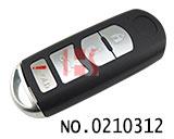 马自达汽车四键智能钥匙匙壳
