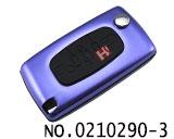 雪铁龙汽车3键遥控折叠匙铝合金壳(紫色/0523/HU83)