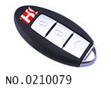 尼桑(GTR)汽车3键智能遥控晶片匙(433MHZ)