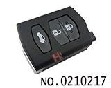 马自达M6汽车三键遥控匙壳