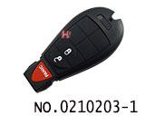 克莱斯勒,道奇,吉普等汽车2+1键智能遥控匙(美版)