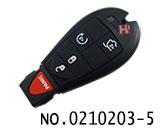 克莱斯勒,道奇,吉普等汽车4+1键智能遥控匙(美版)