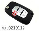 雷诺汽车3键折叠遥控匙