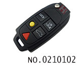 沃尔沃汽车5键遥控折叠匙外壳(无标)