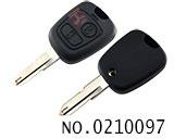标志206汽车两键遥控匙壳(无标)
