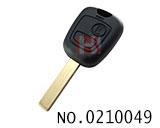 新款标致307汽车二键遥控匙壳(无标)