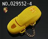 保时捷汽车智能三键遥控匙硅胶套(黄色)