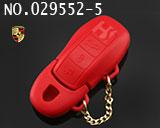 保时捷汽车智能三键遥控匙硅胶套(红色)