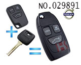 沃尔沃汽车3键遥控改装折叠匙