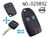 沃尔沃汽车二键遥控改装折叠匙