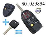 沃尔沃汽车4键遥控改装折叠匙