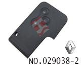 雷诺汽车3键智能卡外壳(无标)