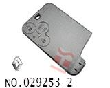 雷诺拉古娜汽车3键智能卡外壳(无标)