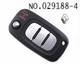 雷诺汽车三键遥控折叠匙壳(无标)