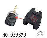 雪铁龙汽车2键遥控匙按键胶皮
