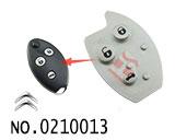 雪铁龙世嘉汽车3键遥控匙按键胶皮