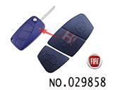 菲亚特汽车3键遥控折叠匙按键胶皮(兰色)
