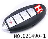 尼桑(GTR)汽车4键智能遥控晶片匙(433MHZ)