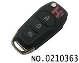 新款福特汽车三键折叠遥控匙壳(尾箱键)