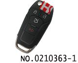 新款福特汽车四键折叠遥控匙壳