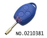 福特汽车三键直板遥控匙壳(蓝色无标)