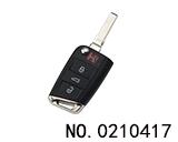 大众MQB汽车智能折叠遥控匙(752BC)