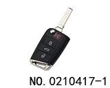 大众汽车MQB系统三键智能折叠遥控匙