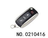 大众辉腾汽车三键折叠遥控匙壳