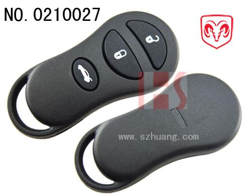 克莱斯勒汽车3键遥控器外壳 无标 高清图片