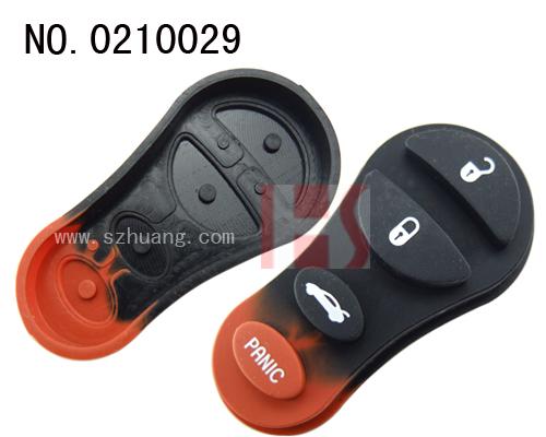 克莱斯勒汽车3 1键遥控器按键胶皮高清图片