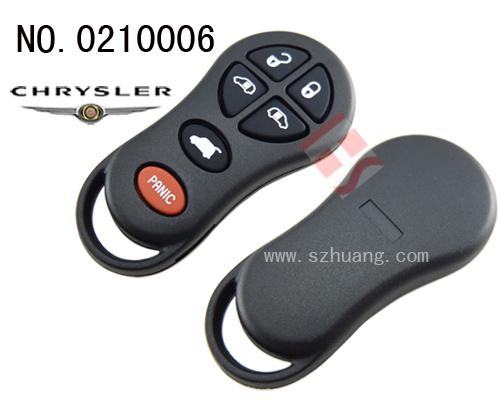 克莱斯勒汽车6键遥控器外壳 无标 高清图片